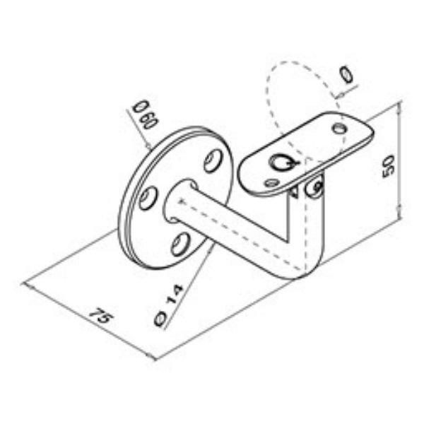 Riel Plano - Tubo - Q Railing
